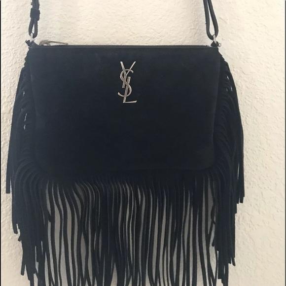 d1ae94d1d0e Yves Saint Laurent Bags   Ysl Fringe Crossbody Black   Poshmark